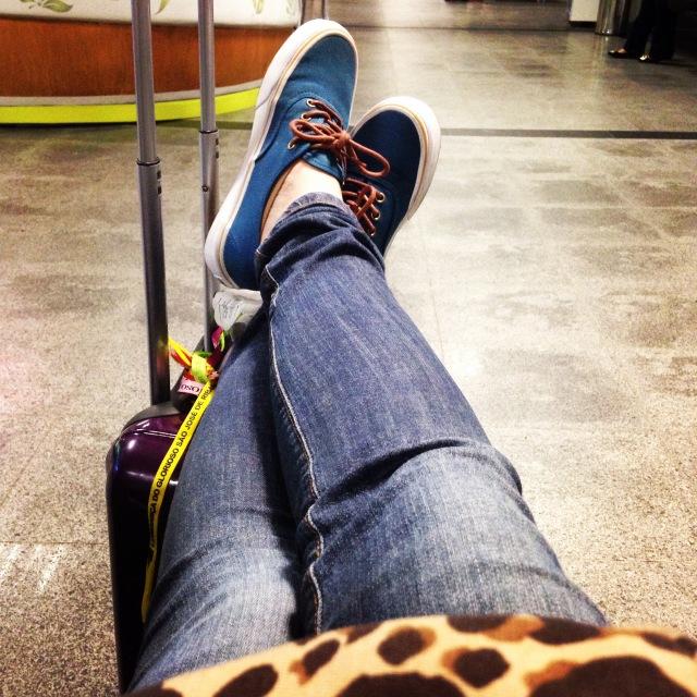 No aeroporto de Salvador